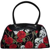 Skulls and Roses Hand Bag