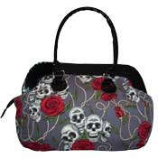 Skulls and Roses Large Hand Bag