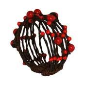 Red Bead Twine Bracelet