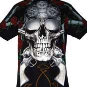 Skull Pistols Roses T-Shirt