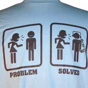 Problem Solved Shirt Light Blue